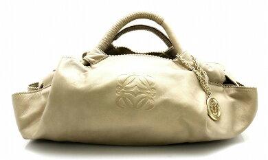 【バッグ】LOEWEロエベナッパアイレハンドバッグカーフサマーゴールド金315.82.B52【中古】【k】