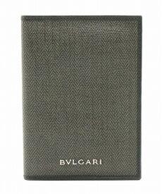 BVLGARI ブルガリ ウィークエンド カードケース パスポートケース パスケース 定期入れ PVC レザー ダークグレー 黒 ブラック 33302 【中古】【k】【Blumin/森田質店】