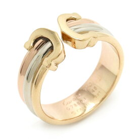 【ジュエリー】【新品仕上げ済】Cartier カルティエ 2C トリニティ リング 指輪 K18 スリーカラー スリーゴールド イエロー ピンク ホワイト 3カラー C2 8号 #48 【中古】
