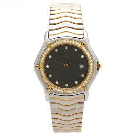 【ウォッチ】EBEL エベル スポーツクラシック 11P ダイヤベゼル グレー文字盤 SS コンビ ボーイズ QZ クォーツ 腕時計 13615066 【中古】