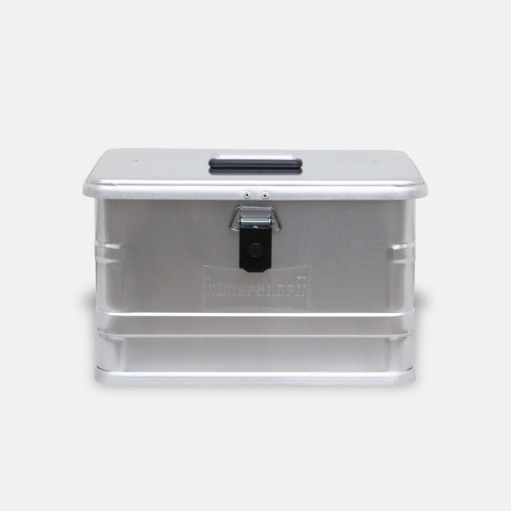 【メーカー直送】Hunersdorff / Aluminium Profi Box 29L【アルミニウムプロフィーボックス/アルミコンテナ/ヒューナースドルフ/アウトドア/キャンプ】[113478