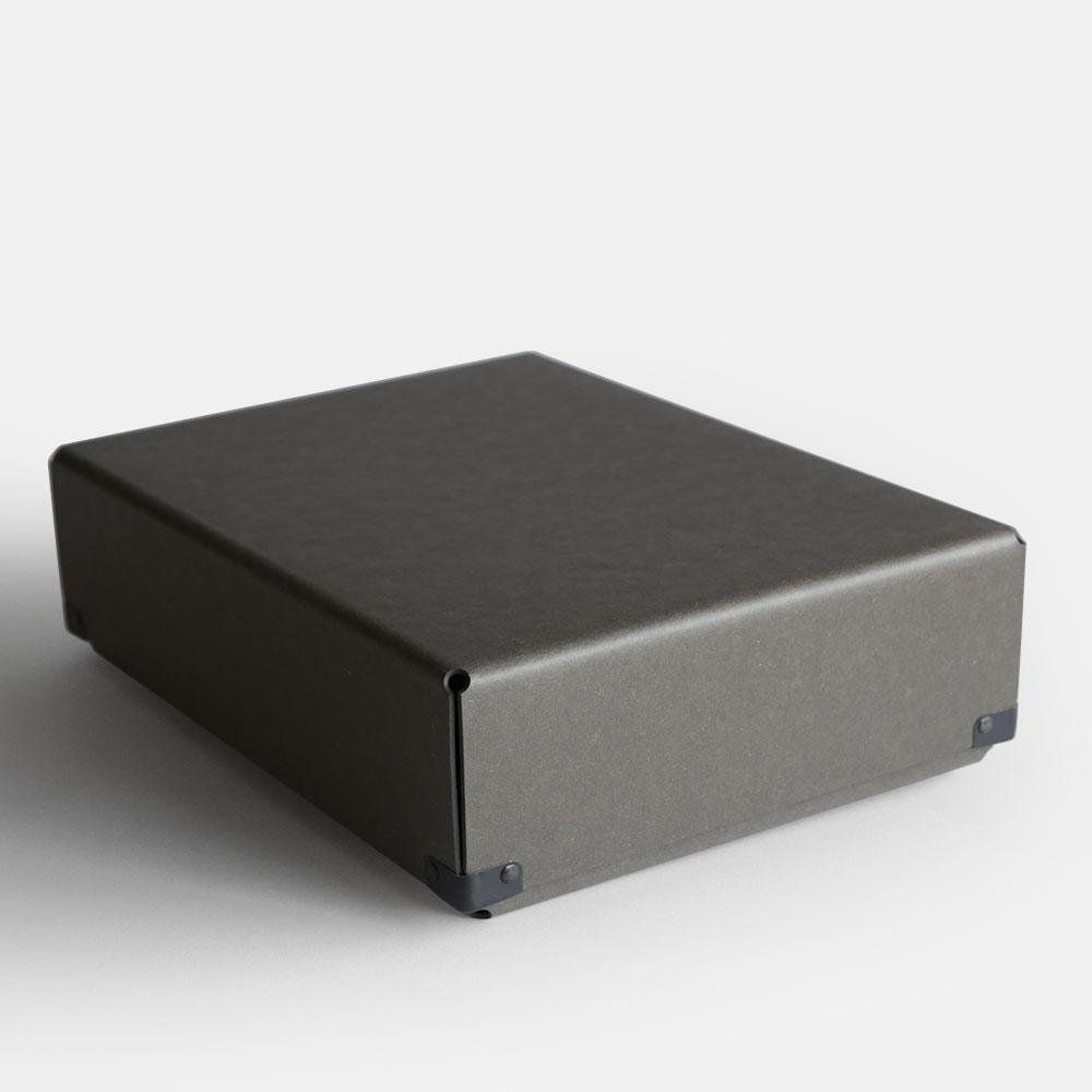 【あす楽対応】concrete craft / BENT A4(Charcoal)【コンクリートクラフト/ベント/クラフトワン/craft_one/小物いれ/収納ボックス/チャコール】[113183