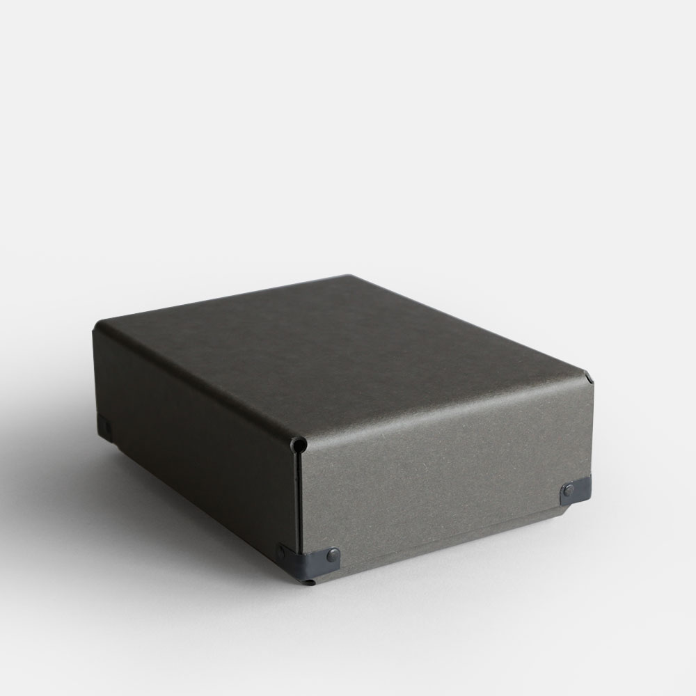 【あす楽対応】concrete craft / BENT A5(Charcoal)【コンクリートクラフト/ベント/クラフトワン/craft_one/小物いれ/収納ボックス/チャコール】[113181