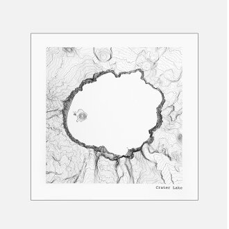 Crater Lake Topographic Map.Blw Store Tim April Crater Lake National Park Oregon Topographic