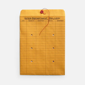 String And Button Inter-Department Envelopes 10sheets【ストリングアンドボタンインターデパートメントエンベロープ 10シートセット/封筒/書類整理/USA/ステーショナリー】[113530