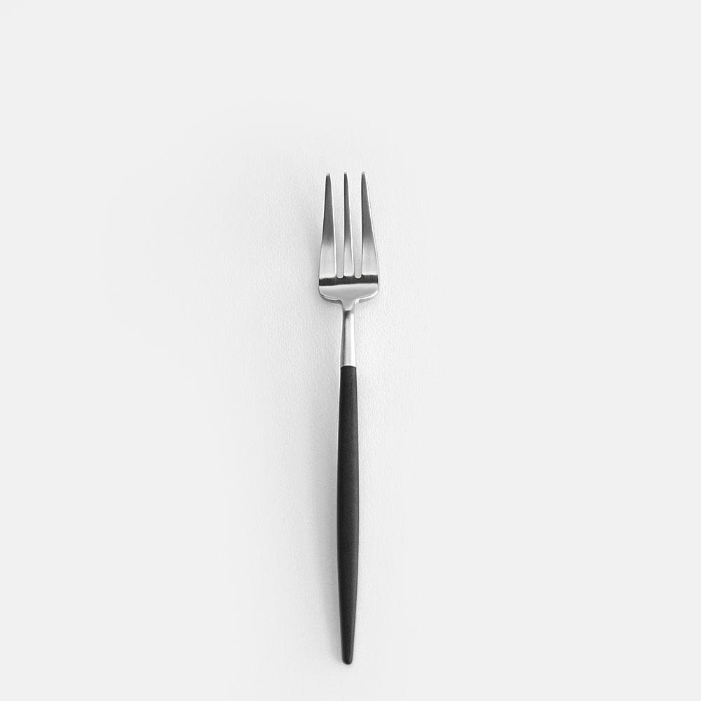 【ママ割P5倍※条件付】Cutipol / GOA ペストリーフォーク(ブラックシルバー)【クチポール/キュティポール/ゴア/カトラリー/pastry fork】【楽ギフ_包装】【楽ギフ_のし宛書】[111559