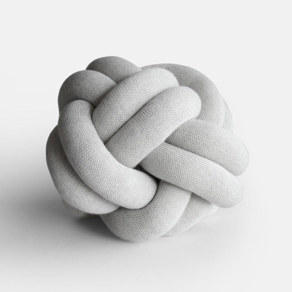 Design House Stockholm[デザインハウスストックホルム] / Knot CUSHION(white grey)【ノットクッション/ウール/アクリル/ニット】[113188