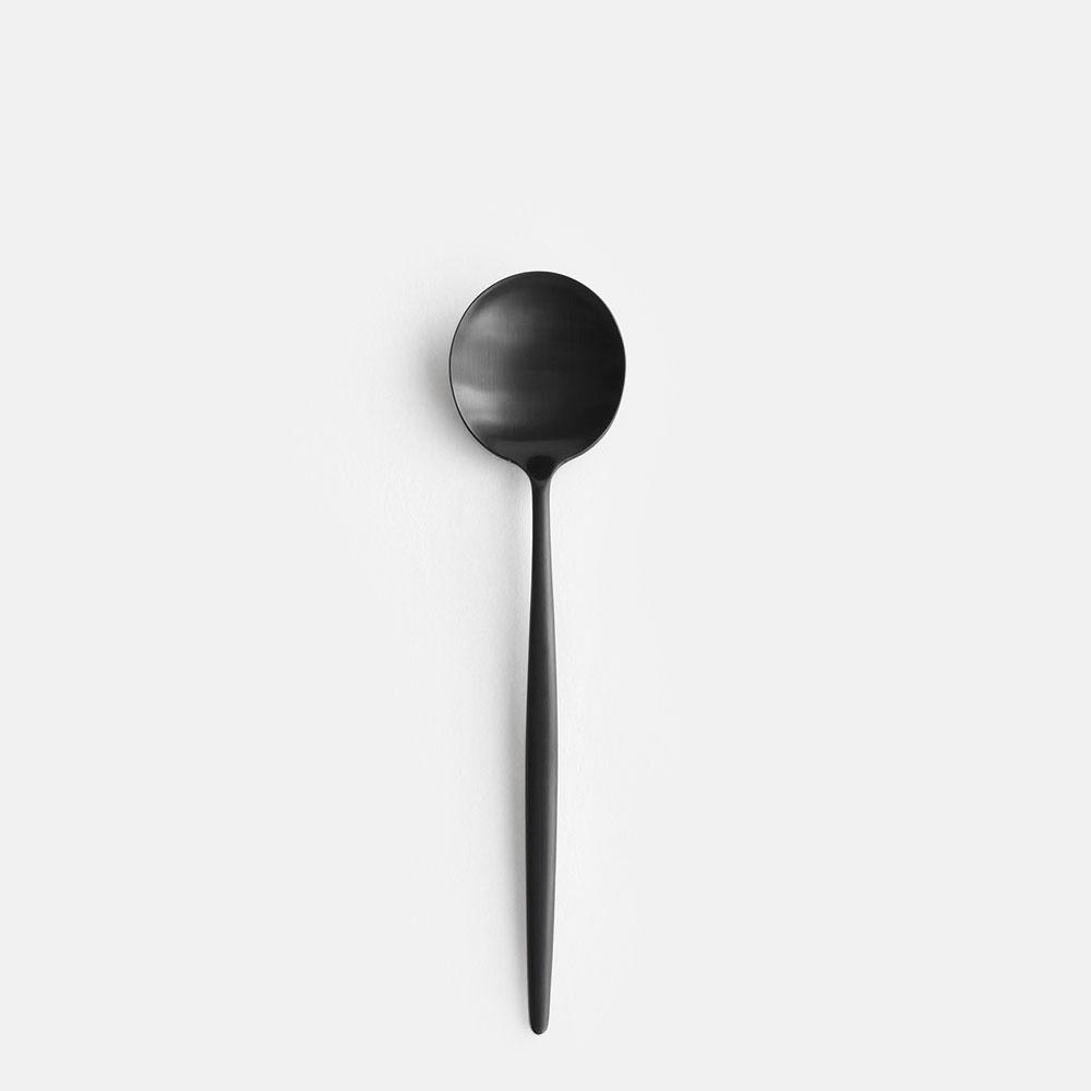 【ママ割P5倍※条件付】Cutipol / MOON MATT BLACK デザートスプーン【クチポール/キュティポール/ムーンマットブラック/カトラリー/dessert spoon】【楽ギフ_包装】【楽ギフ_のし宛書】[111571