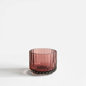 【あす楽対応】Lyngby Porcelain[リュンビューポーセリン] / Tealight holder Glass(Burgundy)【ティーライトホルダーグラス/キャンドルホルダー/北欧/バーガンディー】[113170