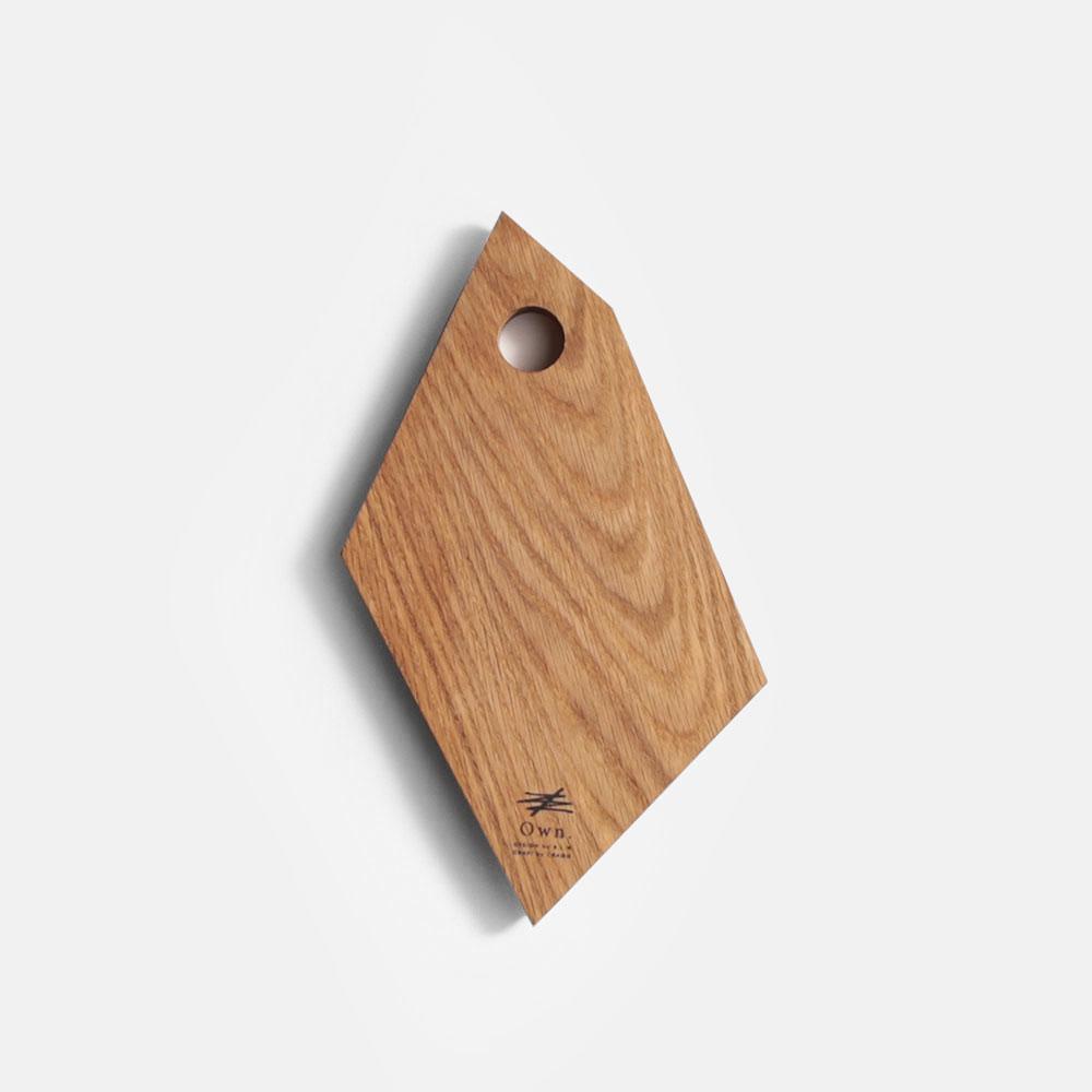 Own. / Fragment Board size:S(White Oak)【メール便可 1点まで】【オウン/フラグメントボード/ウッドボード/カッティングボード/まな板/B.L.Wオリジナル/ホワイトオーク/CRAGG】[113407