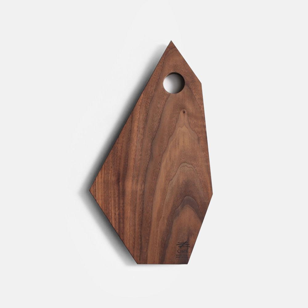 Own. / Fragment Board size:M(Walnut)【オウン/フラグメントボード/ウッドボード/カッティングボード/まな板/B.L.Wオリジナル/ウォールナット/CRAGG】[113405