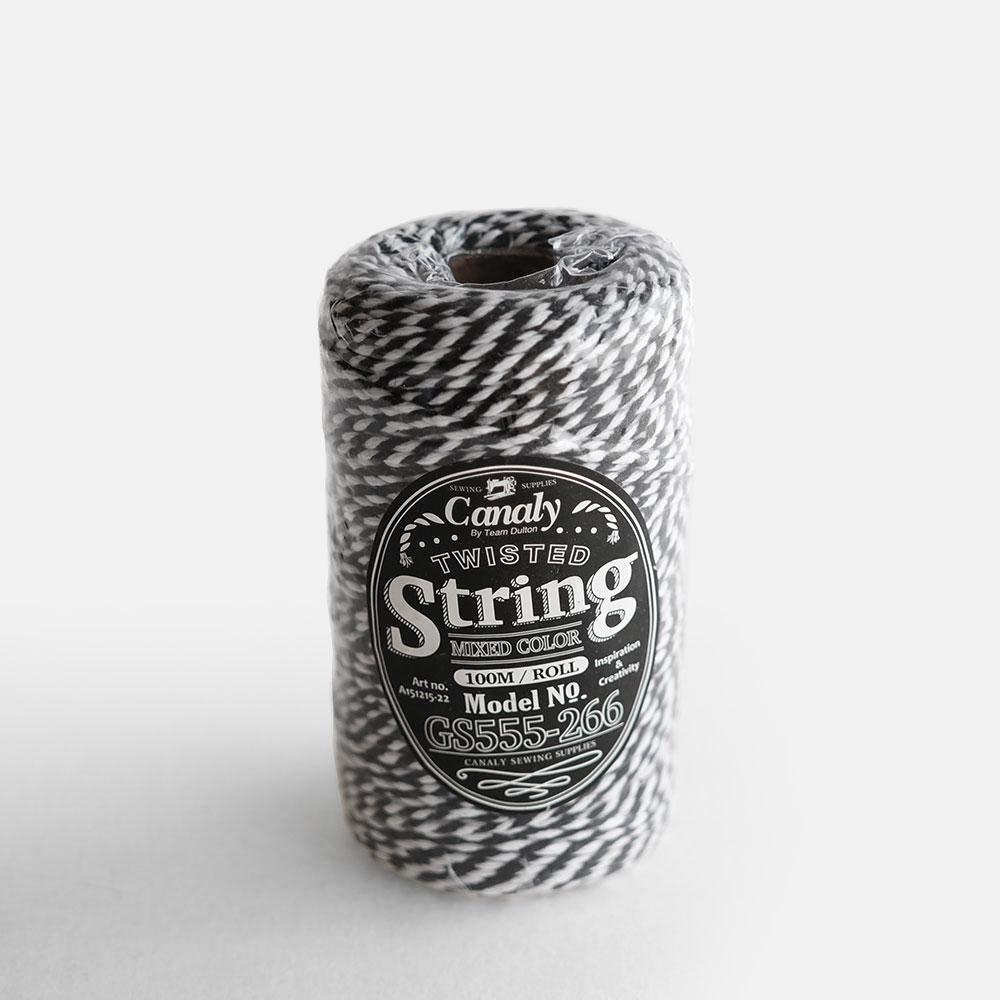 DULTON[ダルトン] / Twisted string(WHITE/BLACK) / G555-266G【ミックス紐/コットン/ポリエステル/ツイステッドストリング】[111878