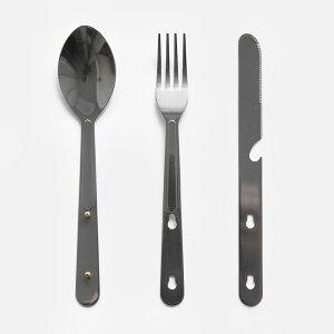 DETAIL INC. / Hobo Cutlery set 4【メール便可 4点まで】【ホーボーカトラリーセット4/カトラリー/ナイフ/フォーク/スプーン/ボトルオープナー/キャンプ/アウトドア】[114465