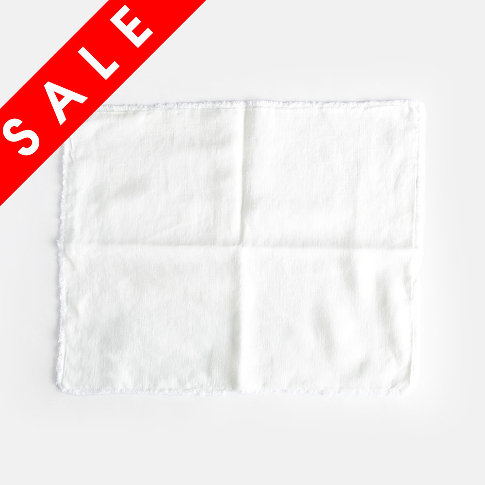 【SALE】Linen Tales / フリンジプレースマット(White)/VWF-P01【メール便可】【在庫処分セール/リネンテイルズ/リネンテールズ/ランチョンマット/テーブルファブリック/リトアニアリネン】[112230