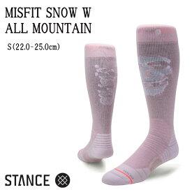 STANCE スタンス SNOW COLLECTION ALL MOUNTAIN MISFIT SNOW W SOCKS ソックス レディース スノーボード【ぼーだまん】