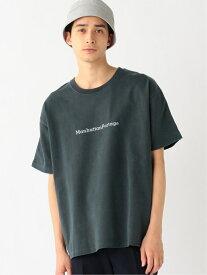 [Rakuten Fashion]Manhattan Portage / スカイライン バックプリントTシャツ BEAMS ビームス B:MING LIFE STORE by BEAMS ビーミング ライフストア バイ ビームス カットソー Tシャツ グレー ホワイト ブルー【送料無料】