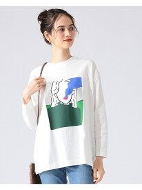 B:MING by BEAMS / オートモアイ プリン ロングスリーブ Tシャツ B:MING by BEAMS ビーミング ライフストア バイ ビームス カットソー Tシャツ ホワイト ブラック ベージュ【送料無料】[Rakuten Fashion]