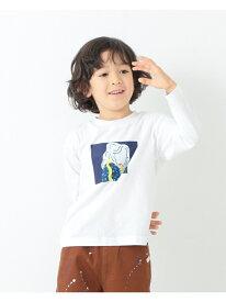 B:MING by BEAMS / オートモアイ プリン ロングスリーブ Tシャツ(90~150cm) B:MING by BEAMS ビーミング ライフストア バイ ビームス カットソー Tシャツ ホワイト ブラック ブラウン[Rakuten Fashion]