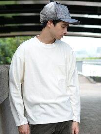 [Rakuten Fashion]B:MING by BEAMS / ベロア ポケット クルーネック カットソー BEAMS ビームス B:MING by BEAMS ビーミング ライフストア バイ ビームス カットソー Tシャツ ホワイト ブラウン レッド【送料無料】