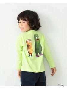 B:MING by BEAMS / Disney ピクルスとピーナッツデザイン ロングスリーブ Tシャツ(90~140cm) B:MING by BEAMS ビーミング ライフストア バイ ビームス カットソー Tシャツ イエロー グレー[Rakuten Fashion]