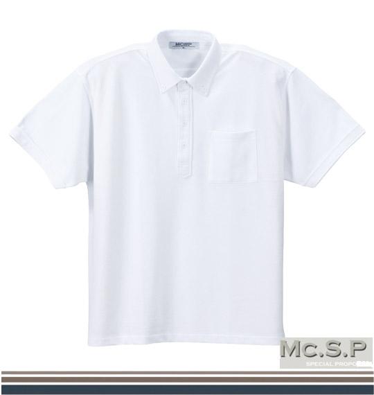 【送料無料】【大きいサイズ】【メンズ】 Mc.S.P B.Dポロシャツ半袖 ホワイト 1158-2550-1 [3L・4L・5L・6L・8L]