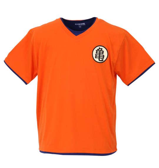 【大きいサイズ】【メンズ】 DRAGONBALL Z 悟空・亀マークなりきり半袖Tシャツ オレンジ 1178-7621-1 [3L・4L・5L・6L]