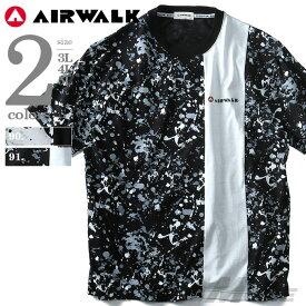 大きいサイズ メンズ AIRWALK(エアウォーク) スプラッシュプリント半袖Tシャツ 8260-5145