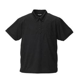 大きいサイズ メンズ Mc.S.P DRYハニカムメッシュB.D半袖ポロシャツ ブラック 1158-8560-2 [3L・4L・5L・6L・8L・10L]