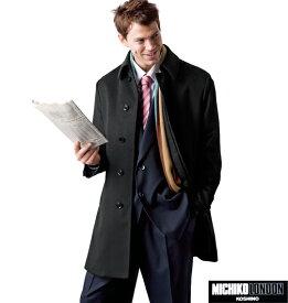 大きいサイズ メンズ MICHIKO LONDON KOSHINO ステンカラーコート ブラック 1151-4300-1 [3L・4L・5L・6L]