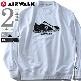 【大きいサイズ】【メンズ】AIRWALK(エアウォーク) サガラ刺繍トレーナー 8460-6100