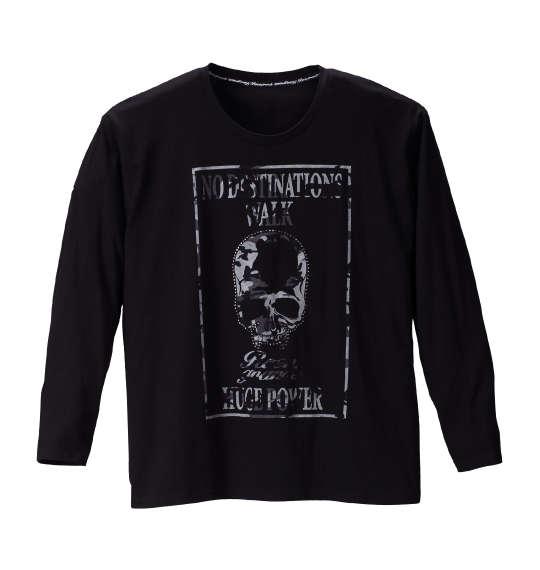 【送料無料】大きいサイズ メンズ Roen grande カモフラスカル長袖Tシャツ ブラック 1178-6390-2 [3L・4L・5L・6L]