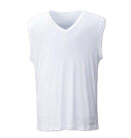 大きいサイズ メンズ Phiten Vネックスリーブレス ホワイト 1149-6221-1 [3L・4L・5L・6L・8L]