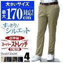 チノパンツ 大きいサイズ メンズ ストレッチノータックパンツ ゴルフパンツ ズボン 作業着 DANIEL DODD 【オールシー…