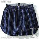 【大きいサイズ】【メンズ】DANIEL DODD ストライプ柄トランクス【肌着/下着】azut-070