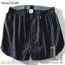 【大きいサイズ】【メンズ】DANIEL DODD ストライプ柄トランクス【肌着/下着】azut-073