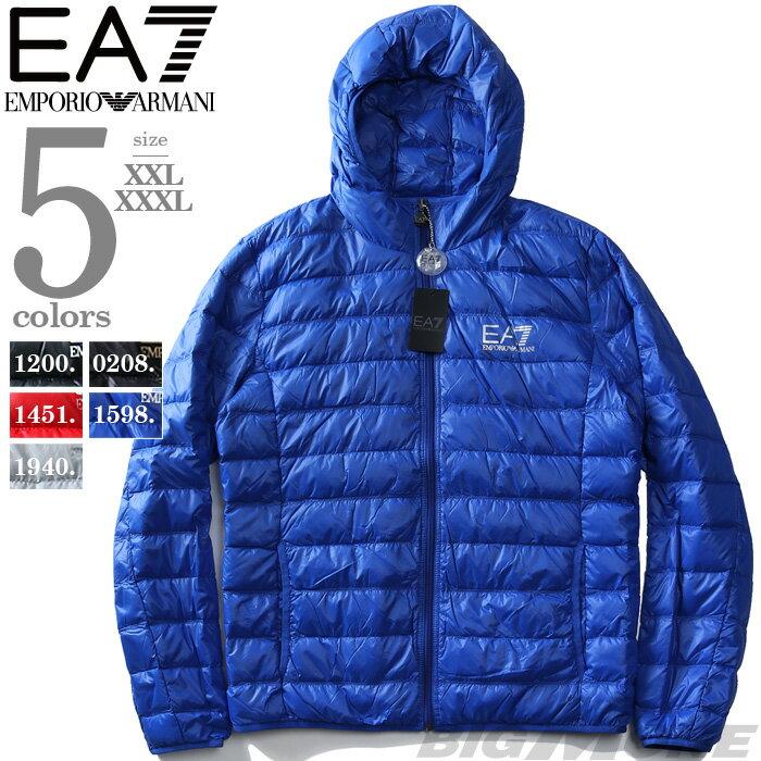 【大きいサイズ】【メンズ】EMPORIO ARMANI EA7(エンポリオ アルマーニ イーエーセブン) ダウンジャケット【直輸入品】8npb02-pn29z