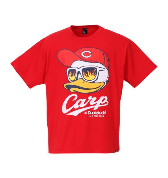 【大きいサイズ】【メンズ】 b-one-soul 広島東洋カープ×DUCK DUDE FACE半袖Tシャツ レッド 1178-8545-1 [3L・4L・5L・6L]