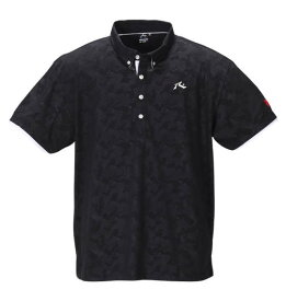 大きいサイズ メンズ RUSTY GOLF カモフラ エンボス 半袖 ポロシャツ ブラック 1278-0205-2 3L 4L 5L 6L