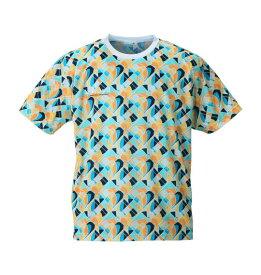 【大きいサイズ】【メンズ】 LE COQ SPORTIF ジオメトリック柄半袖Tシャツ マルチ 1178-8320-1 [2L・3L・4L・5L・6L]