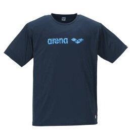 大きいサイズ メンズ arena ラッシュガード 半袖 Tシャツ ネイビー 1178-9235-1 3L 4L 5L 6L