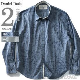 【大きいサイズ】【メンズ】DANIEL DODD 長袖プリントレギュラーシャツ【春夏新作】azsh-190117