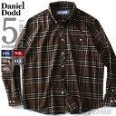 フランネルシャツ 大きいサイズ メンズ 長袖 オーガニックコットン チェック ボタンダウン シャツ DANIEL DODD azsh-1…