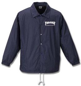 大きいサイズ メンズ THRASHER コーチ ジャケット ネイビー 1173-9325-1 3L 4L 5L 6L 8L