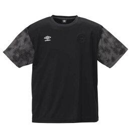 大きいサイズ メンズ UMBRO URA.グラフィック 半袖 Tシャツ ブラック 1178-9230-2 2L 3L 4L 5L 6L
