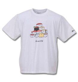 大きいサイズ メンズ おしゅしだよ 寿司 半袖 Tシャツ ホワイト 1178-9248-1 3L 4L 5L 6L