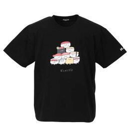 大きいサイズ メンズ おしゅしだよ 寿司 半袖 Tシャツ ブラック 1178-9248-2 3L 4L 5L 6L