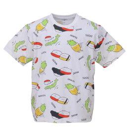 大きいサイズ メンズ おしゅしだよ JAPAN総柄 半袖 Tシャツ ホワイト 1178-9249-1 3L 4L 5L 6L