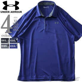 大きいサイズ メンズ UNDER ARMOUR アンダーアーマー 半袖 ゴルフ ポロシャツ スポーツウェア USA直輸入 1290140