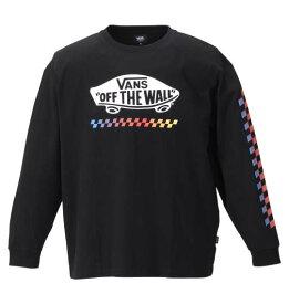 大きいサイズ メンズ VANS 長袖 Tシャツ ブラック 1178-9660-2 3L 4L 5L