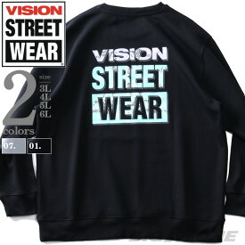 大きいサイズ メンズ VISION STREET WEAR バンダナ柄マグロゴ トレーナー 秋冬新作 0905710